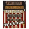 <strong>Soldier Wives by Gaby Juergens Textual Art</strong> by Blossom Bucket