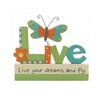 """Blossom Bucket """"Live Your Dreams"""" with Dragonfly Statue"""