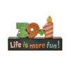 "Blossom Bucket ""39+1 Life Is More Fun"" Block"