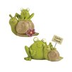 "Blossom Bucket 2 Piece ""Garden Friends"" Frogs with Snails Statue Set"