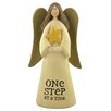 "<strong>Blossom Bucket</strong> ""One Step At A Time"" Angel with Star Statue"