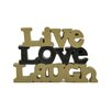 "Blossom Bucket ""Live Love Laugh"" Letter Block"
