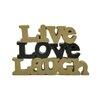 """Blossom Bucket """"Live Love Laugh"""" Statue"""