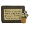 "<strong>Blossom Bucket</strong> ""Blessed Be My Mother"" Wall Décor"