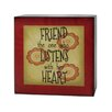 "<strong>Decorative ""Friends Listen"" Box Sign</strong> by Blossom Bucket"