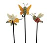 Blossom Bucket 3 Piece Butterfly, Bee, and Ladybug Garden Stakes Figurine Set