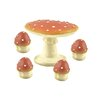 <strong>5 Piece Decorative Mushroom Table and Chair Set</strong> by Blossom Bucket