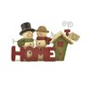 "Blossom Bucket ""Home"" with Snowman Couple and House Figurine"