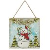 """Blossom Bucket """"Merry Christmas"""" LED Snowman Picture Frame"""