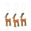 Blossom Bucket 3 Piece Reindeer with Bells and Cardinal Ornament Set