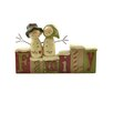 "Blossom Bucket ""Family"" Blocks with Snowman Couple Figurine"
