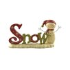 "Blossom Bucket ""Snow"" on Base with Snowman Figurine"