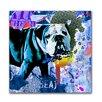 "Th-Ink Art ""Bulldog"" Graphic Art on Canvas"
