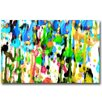 Th-Ink Art Majestic Downpour Painting Print on Canvas