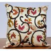 Auburn Textile Embroidered Accent Pillow