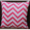Auburn Textile Chevron Cotton Throw Pillow