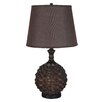 "Illuminada 3 Way Bamboo Weaved 28.5"" H Table Lamp with Empire Shade"