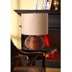 "Illuminada 3-Way Ceramic Wood Inspired 18.5"" H Table Lamp with Drum Shade"