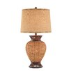 "Illuminada 3-Way Natural Rattan 33"" H Table Lamp with Empire Shade"