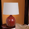"Illuminada 3-Way Ceramic Gourd 22.5"" H Table Lamp with Empire Shade"