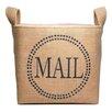 "asouthernbucket ""Mail"" Burlap Storage Basket"