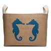 asouthernbucket Seahorse Friends Burlap Storage Basket