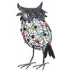 <strong>La Hacienda</strong> Steel Perching Owl Figurine