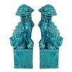 <strong>Three Hands</strong> Fabulous Styled Foo Dog Figurine (Set of 2)