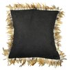 Pur Modern Alexander Les Plumes Feather Trim Pillow