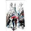 <strong>Evive Designs</strong> Rainy Paris by Lana Painting Print