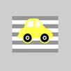 Evive Designs Yellow Car by Rizzle and Rugee Graphic Art