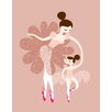 <strong>Evive Designs</strong> Ballerina Mother and Daughter Paper Print