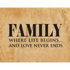 Evive Designs 'Family' by Susan Newberry Textual Art