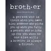 Evive Designs 'Brother' by Susan Newberry Textual Art in Black