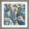 Evive Designs 'Custom Indigo Tapestry II' by Chariklia Zarris Framed Painting Print
