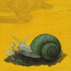 Evive Designs Green Garden Snail by Kate Halpin Painting Print
