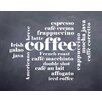 Evive Designs 'Coffee' by Susan Newberry Textual Art in Black