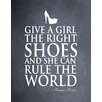 Evive Designs 'Give a Girl' by Susan Newberry Textual Art in Black and White