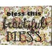 Evive Designs 'Beautiful Mess' by Jennifer Lee Textual Graphic Art on Canvas