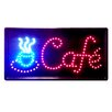 "<strong>DSD Group</strong> 10"" x 19"" Animated Motion LED Neon Light Cafe Sign"