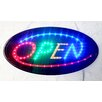 "<strong>10"" x 19"" Animated Motion LED Oval Open Sign</strong> by DSD Group"