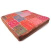 <strong>Found Object</strong> Patchwork Sari Brocade Square Pillow