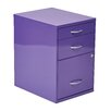 OSP Designs 3-Drawer Metal File Cabinet