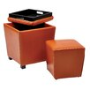 OSP Designs 2 Piece Ottoman Set (Set of 2)