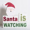 Adams & Co 3 Piece Santa is Watching Wood Brick Set