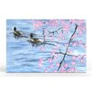 Artefx Decor Paddling on the Tidal Basin Painting Print on Canvas