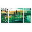 Artefx Decor Green Valley Triptych 3 Piece Painting Print on Canvas Set