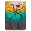<strong>Artefx Decor</strong> Twisting Love Textured Painting Print on Canvas