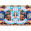 Fluorescent Palace 'Acrylic Attraction Blue' Vintage Advertisement on Canvas
