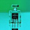 """Fluorescent Palace """"Icon In A Bottle Green"""" Canvas Art"""